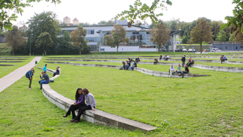 Freshmen at the TUM Campus Weihenstephan