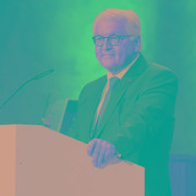 At the ceremony marking TUM's 150th anniversary German Federal President Frank-Walter Steinmeier emphasized the societal responsibility of the sciences. (Image: A. Heddergott / TUM)